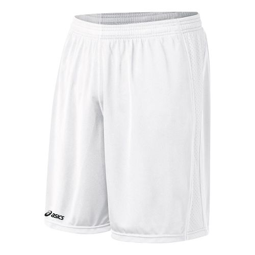 Mens ASICS Tango Lined Shorts - White/White L