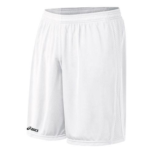 Mens ASICS Tango Lined Shorts - White/White M