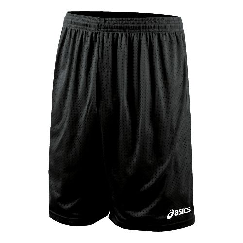 Mens ASICS Team 9 Mesh Unlined Shorts - Black XL