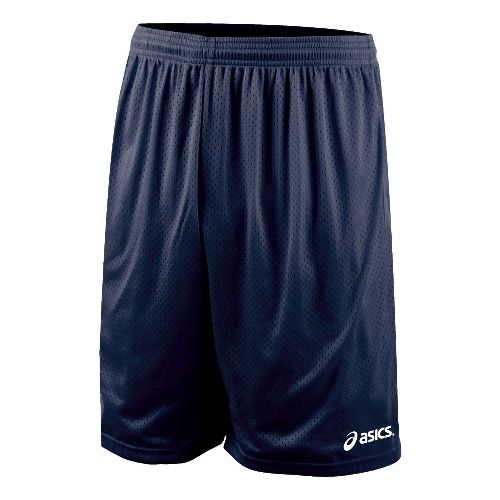 Mens ASICS Team 9 Mesh Unlined Shorts - Navy L