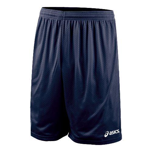 Mens ASICS Team 9 Mesh Unlined Shorts - Navy M