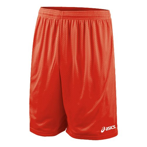 Mens ASICS Team 9 Mesh Unlined Shorts - Red L
