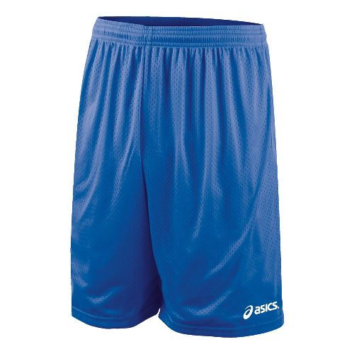 Mens ASICS Team 9 Mesh Unlined Shorts - Royal S