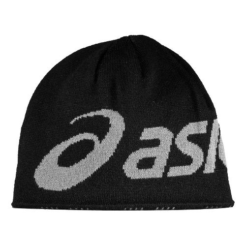ASICS Team Reversible Beanie Headwear - Black/Grey