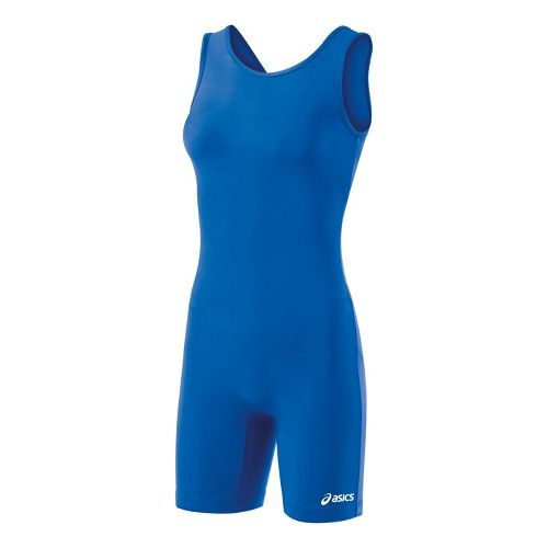 Womens ASICS Solid Modified Singlet Wrestling UniSuits - Royal S