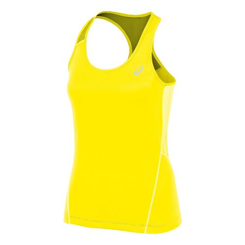 Womens ASICS Lite-Show Favorite Racerback Tanks Technical Tops - Vivid/Steel M