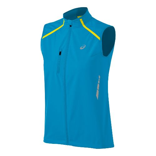 Womens ASICS Speed Windstopper Running Vests - Aquarium/Black M