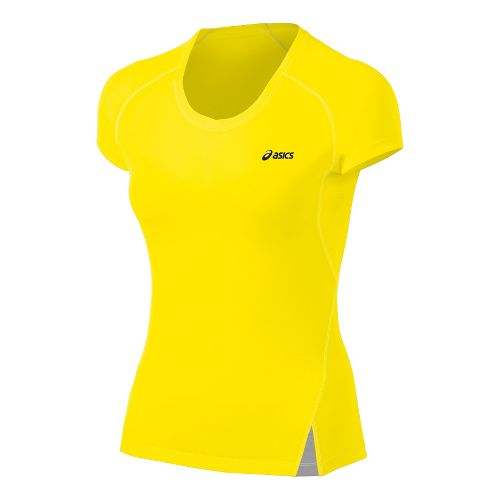 Womens ASICS Fuji Light Top Short Sleeve Technical Tops - Blazing Yellow L