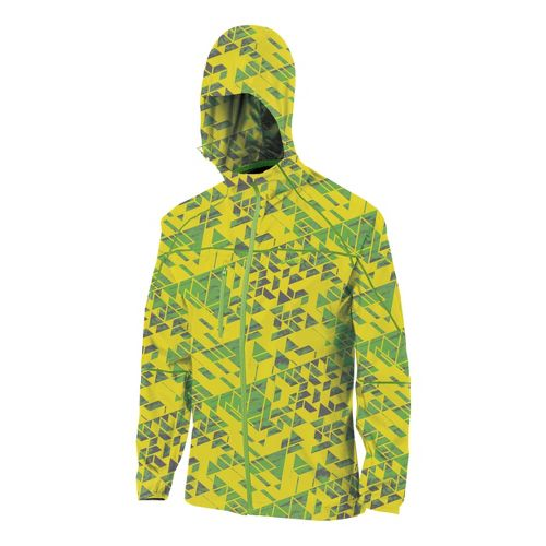 Womens ASICS Fuji Packable Running Jackets - Maize/Chive M