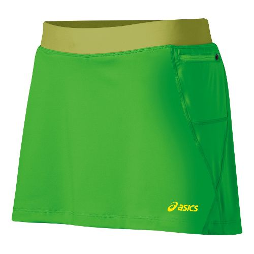 Womens ASICS Fuji Skort Fitness Skirts - Chive/Pistachio M