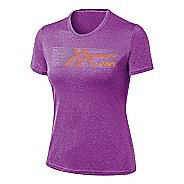 Womens ASICS Streaked Tee Short Sleeve Technical Tops