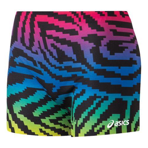Womens ASICS Pixel Rainbow Unlined Shorts - Royal/Black S