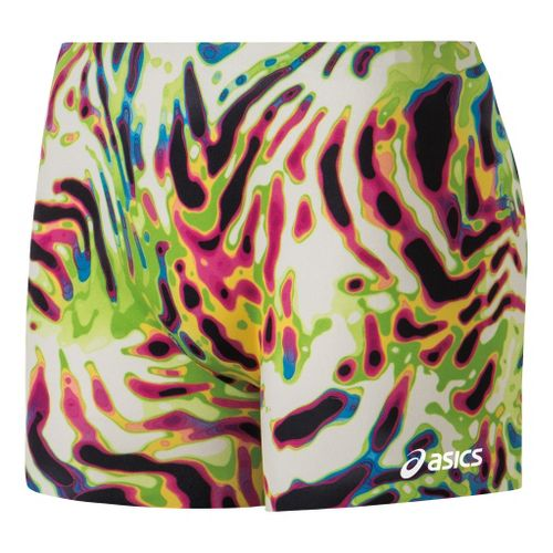 Womens ASICS Tiger Shock Fitted Shorts - Kelly/Black XXS