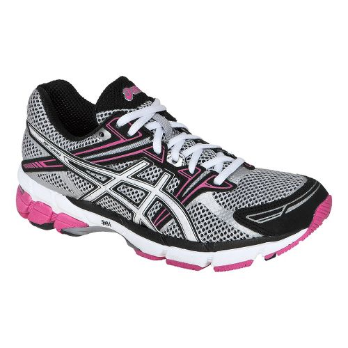 Womens ASICS GT-1000 Running Shoe - Silver/White 10