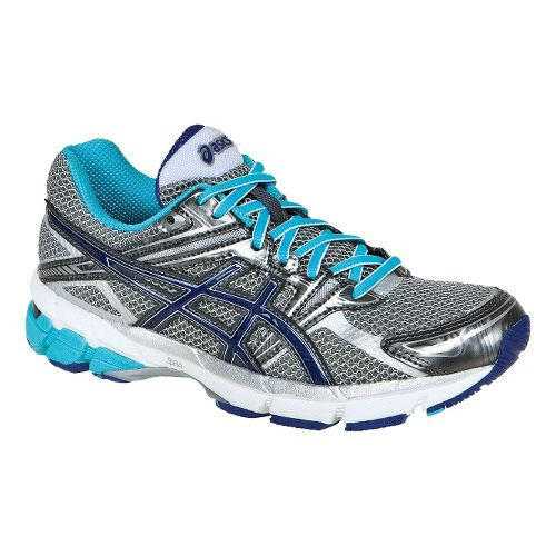 Womens ASICS GT-1000 Running Shoe - Titanium/Iris 9.5