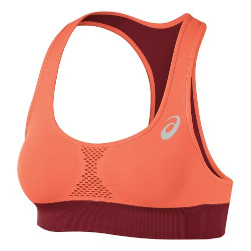 Womens ASICS Versatility Seamless Sports Bras - Deep Ruby/Coral XS/S