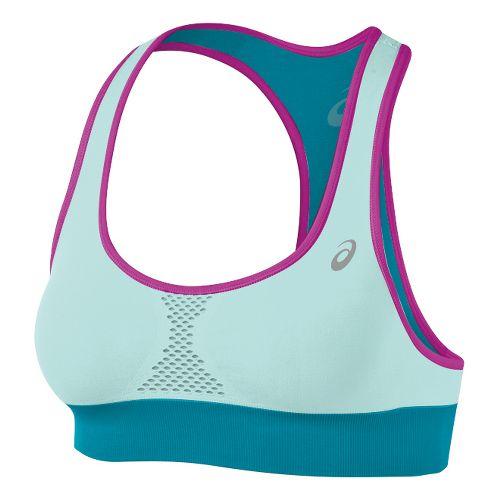 Womens ASICS Versatility Seamless Sports Bras - Crystal Blue/Bondi Blue M/L