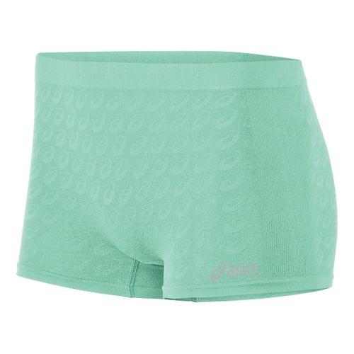 Womens ASICS ASX Boy Brief Boy Short Underwear Bottoms - Aqua Mint S/M