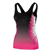 Womens ASICS Performance Fun Starburst Tank Sport Top Bras