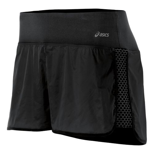 Womens ASICS Performance Fun Lined Shorts - Black XL
