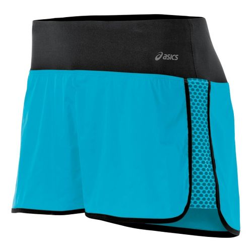 Womens ASICS Performance Fun Lined Shorts - Bluebird S