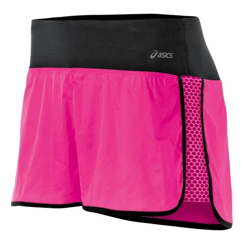 Womens ASICS Performance Fun Lined Shorts - PinkGlo L