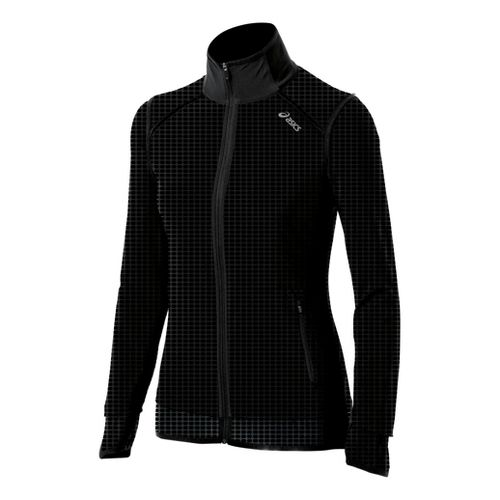 Womens ASICS Performance Fun Running Jackets - Black XS