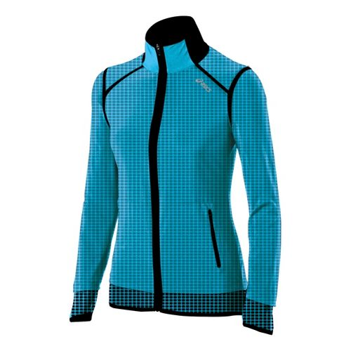 Womens ASICS Performance Fun Running Jackets - Bluebird L