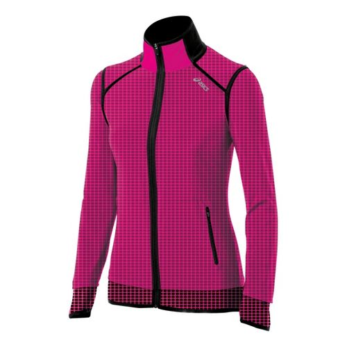 Womens ASICS Performance Fun Running Jackets - PinkGlo S