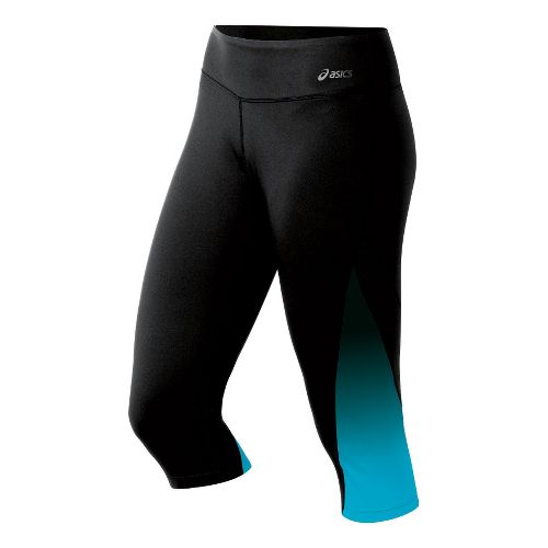 Womens ASICS Performance Fun Capri Tights - Bluebird S