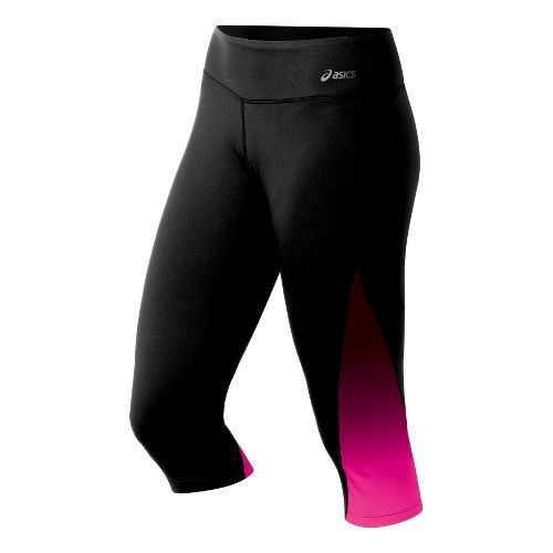Womens ASICS Performance Fun Capri Tights - PinkGlo XL