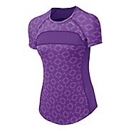 Womens ASICS Abby Tee Short Sleeve Technical Tops