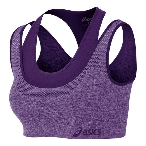Womens ASICS Pure Seamless Sports Bras - Berry/Berry L/XL