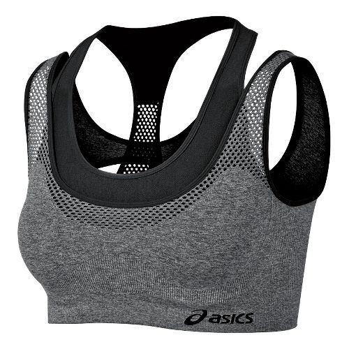 Womens ASICS Pure Seamless Sports Bras - Black S/M