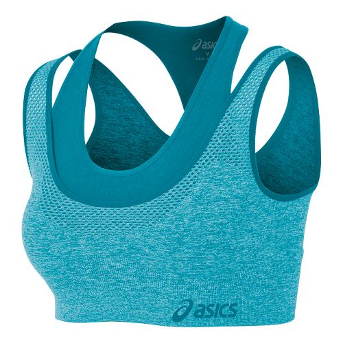 Womens ASICS Pure Seamless Sports Bras - Bondi Blue M/L