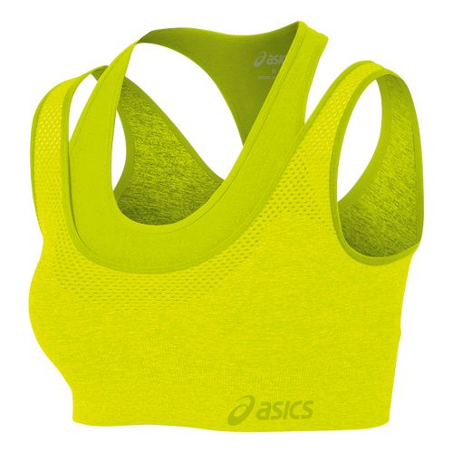 Womens ASICS Pure Seamless Sports Bras - Electric Lime M/L