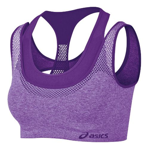 Womens ASICS Pure Seamless Sports Bras - Electric Purple S/M