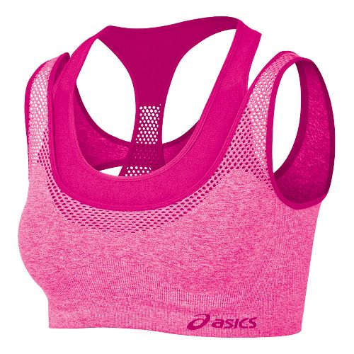 Womens ASICS Pure Seamless Sports Bras - PinkGlo S/M