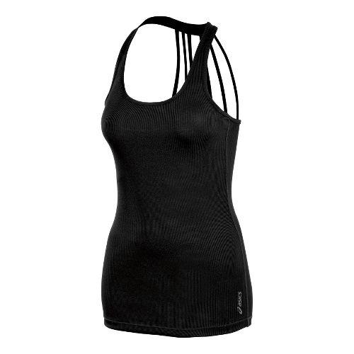 Womens ASICS Pure Rib Tanks Technical Tops - Black XL