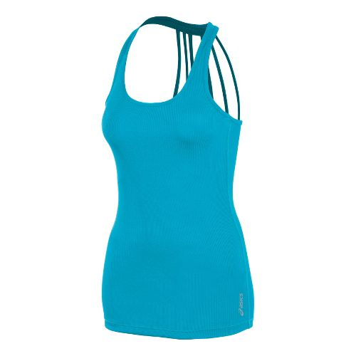 Womens ASICS Pure Rib Tanks Technical Tops - Bluebird S