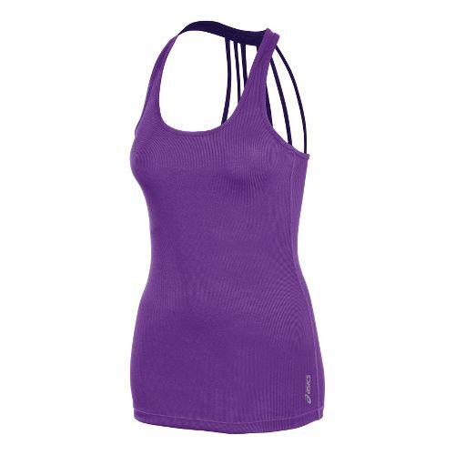 Womens ASICS Pure Rib Tanks Technical Tops - Electric Purple L