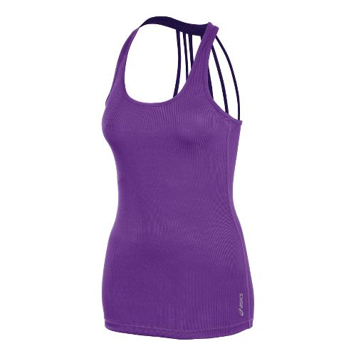 Womens ASICS Pure Rib Tanks Technical Tops - Electric Purple M
