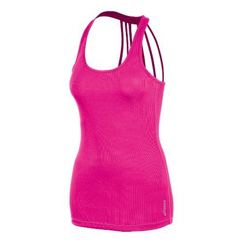 Womens ASICS Pure Rib Tanks Technical Tops - PinkGlo L