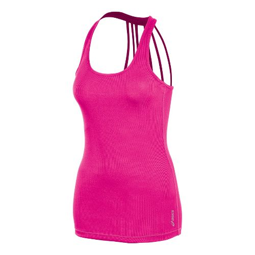 Womens ASICS Pure Rib Tanks Technical Tops - PinkGlo M