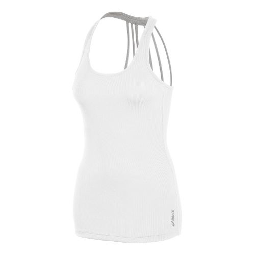 Womens ASICS Pure Rib Tanks Technical Tops - White M