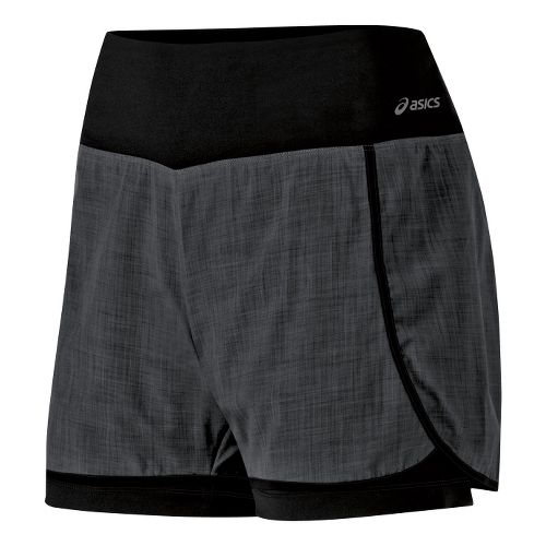 Womens ASICS Pure 2-in-1 Shorts - Black M
