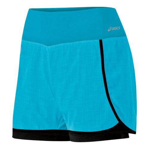 Womens ASICS Pure 2-in-1 Shorts - Bluebird XS