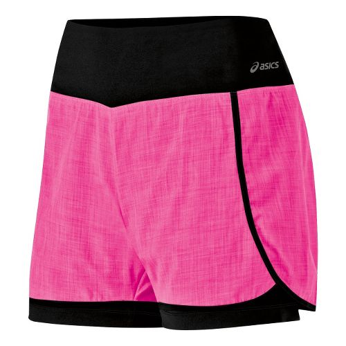Womens ASICS Pure 2-in-1 Shorts - PinkGlo XL