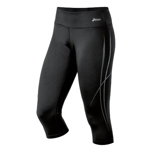 Womens ASICS Pure Capri Tights - Black XS