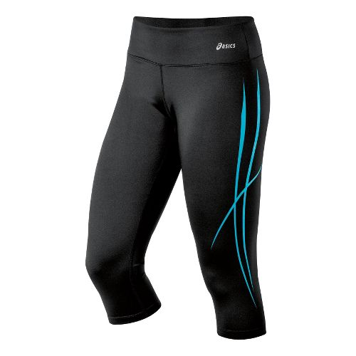 Womens ASICS Pure Capri Tights - Bluebird XS